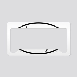 YOGA poses oval License Plate Holder
