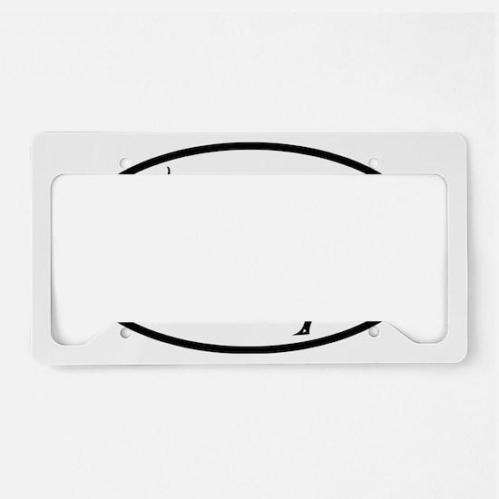 YOGA poses oval License Plate Holder