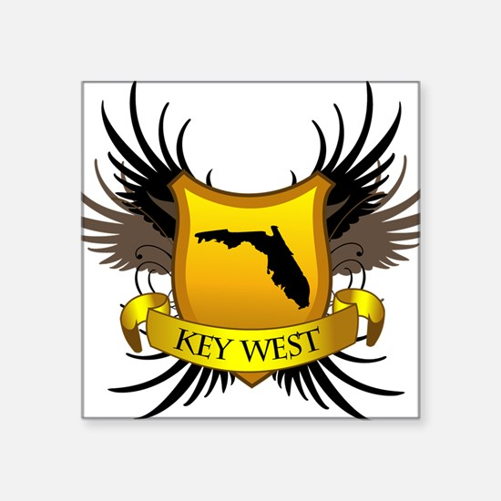 "Key-West Square Sticker 3"" x 3"""