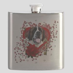 Valentine_Red_Rose_Saint_Bernard_Mae Flask