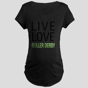 liverollerderby Maternity Dark T-Shirt