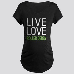 liverollerderby2 Maternity Dark T-Shirt