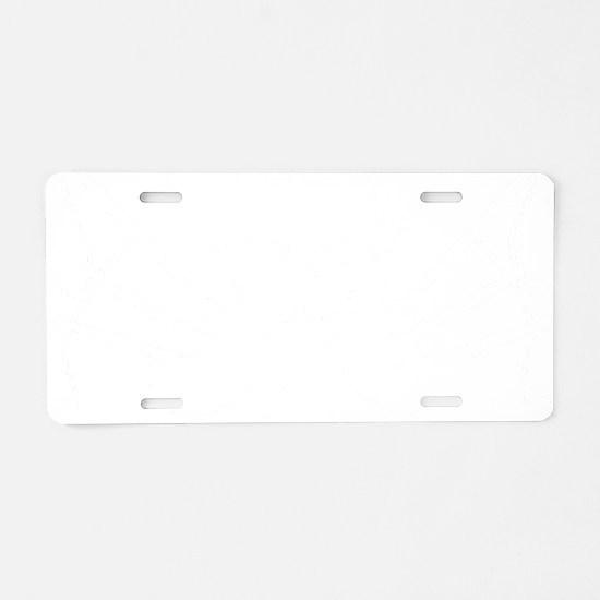 Floating Skull n Pipes Whit Aluminum License Plate