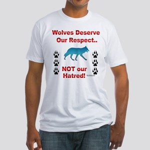 Respect Wolves Fitted T-Shirt