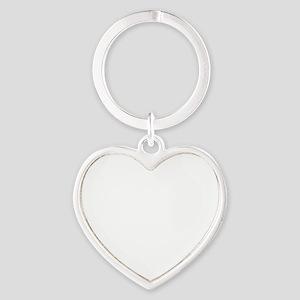 DeerHuntingBrokeWhiteFont Heart Keychain