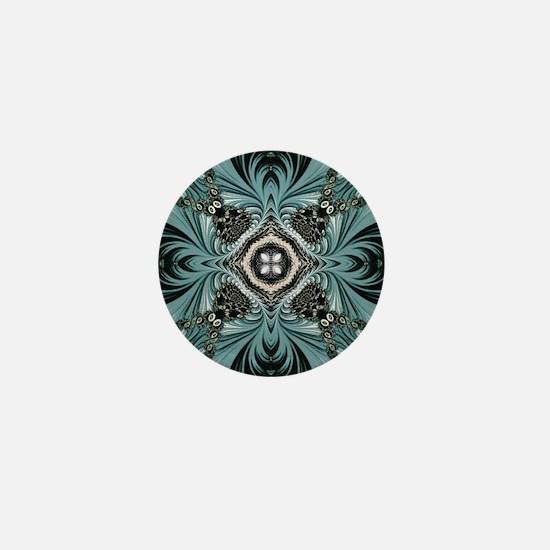 kaleido art fractal vintage Mini Button