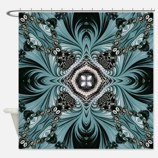 kaleido art fractal vintage Shower Curtain