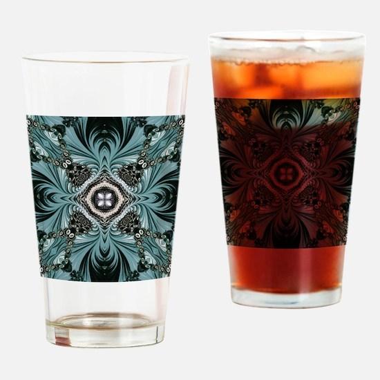 kaleido art fractal vintage Drinking Glass