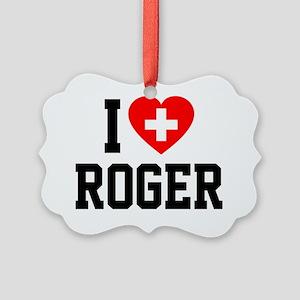 Roger Blanket 2 Picture Ornament