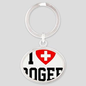 Roger Blanket 2 Oval Keychain