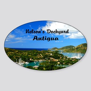 Nelsons Dockyard Antigua18x12 Sticker (Oval)