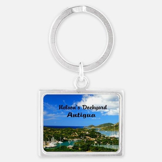 Nelsons Dockyard Antigua18x12 Landscape Keychain