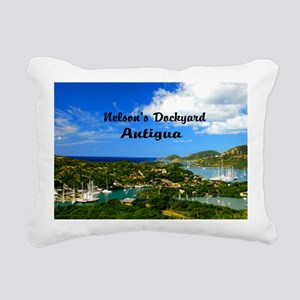 Nelsons Dockyard Antigua Rectangular Canvas Pillow