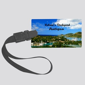 Nelsons Dockyard Antigua18x12 Large Luggage Tag