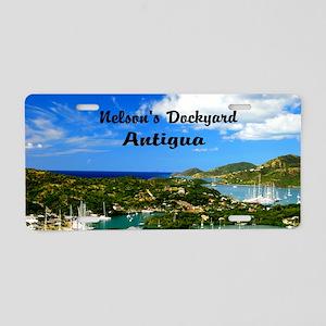 Nelsons Dockyard Antigua18x Aluminum License Plate