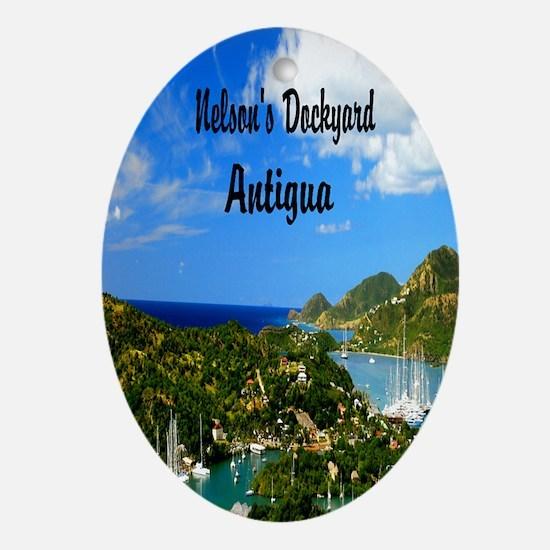 Nelsons Dockyard Antigua2.41x4.42 Oval Ornament