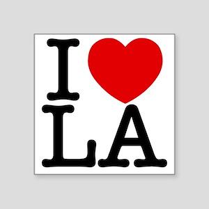 """I Love LA Square Sticker 3"""" x 3"""""""
