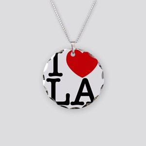 I Love LA Necklace Circle Charm