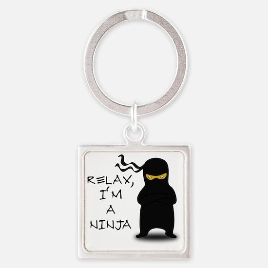 relax ninja Square Keychain