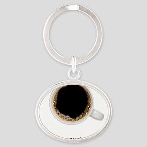 Coffee-Lt-PourALittleSugarOnMe Oval Keychain