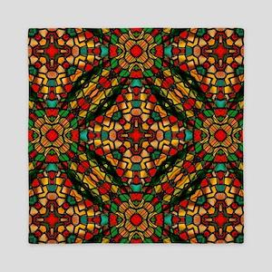 kaleido art stained glass Queen Duvet