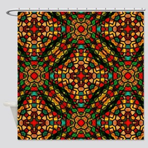kaleido art stained glass Shower Curtain