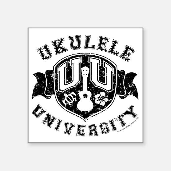 """Ukulele University Square Sticker 3"""" x 3"""""""