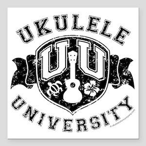 """Ukulele University Square Car Magnet 3"""" x 3"""""""