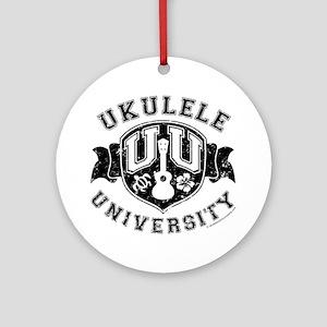 Ukulele University Round Ornament