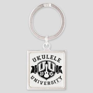 Ukulele University Square Keychain