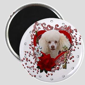 Valentine_Red_Rose_Poodle_White Magnet