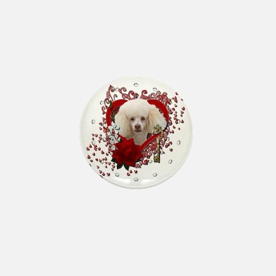 Valentine_Red_Rose_Poodle_White Mini Button