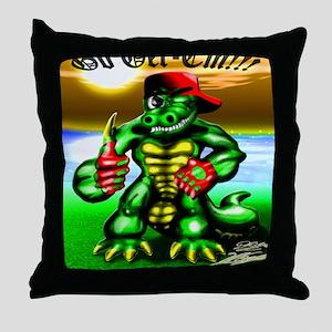 Ray Gator 2 (16x20 Size) Throw Pillow