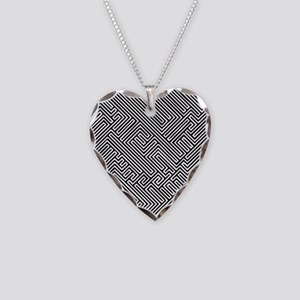 skull optical illusion Necklace Heart Charm