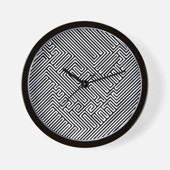 skull optical illusion Wall Clock