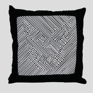 skull optical illusion Throw Pillow