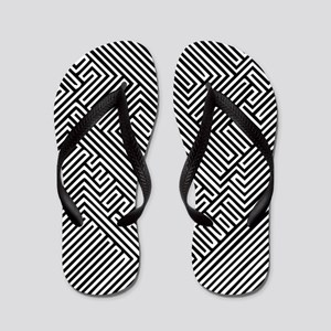 skull optical illusion Flip Flops