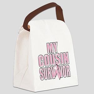 My Cousin is a Survivor Canvas Lunch Bag