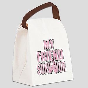 My Friend is a Survivor Canvas Lunch Bag
