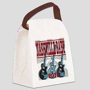 Nashville Baby Grey Guitars Canvas Lunch Bag