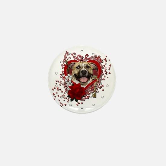 Valentine_Red_Rose_Pitbull_Tigger Mini Button