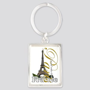 PARIS I would rather be in Portrait Keychain