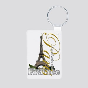 PARIS I would rather be in Aluminum Photo Keychain