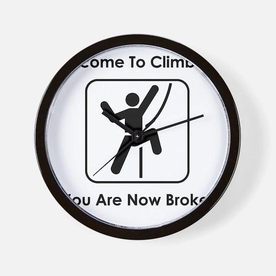 ClimbingBroke Black Wall Clock