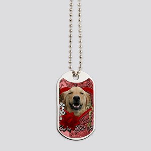 Valentine_Red_Rose_Golden_Retriever_Micke Dog Tags