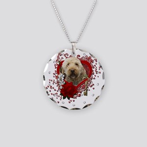 Valentine_Red_Rose_GoldenDoo Necklace Circle Charm