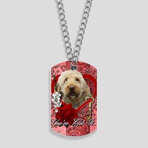 Valentine_Red_Rose_GoldenDoodle Dog Tags