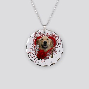 Valentine_Red_Rose_Golden_Re Necklace Circle Charm