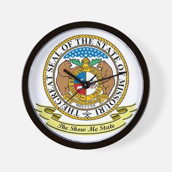 Missouri Seal Wall Clock