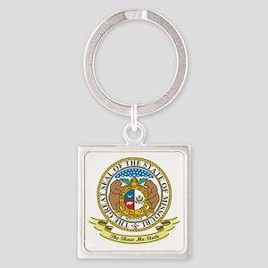 Missouri Seal Square Keychain